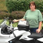 Linda Mooney and her 2013 BMW F800GT.