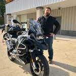 Malachi who just picked up this 2017 BMW R1200GSA.