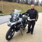 Bob's frequent flyer Marty taking delivery of his new 2016 R1200GS Adventure.