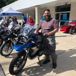 Mickey who just picked up this sweet new R1200GS Rallye.