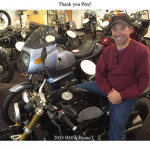Pete Larkin at Bob's BMW in Jessup, MD with his 2015 R NINE T.
