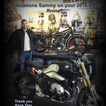 Sammy,  R nine T at Bob's BMW.