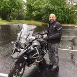 Omar and his 2017 R1200GSA Triple Black.