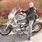 Ken Shapiro and his 2002 R1200C in Toscana Green.