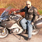 Dick Aronoff with his  2013 BMW R1200RT.