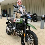 Peter who just picked up this sweet Ducati Scrambler.