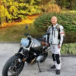 Peter, who just picked up his 2018 R9T Scrambler.