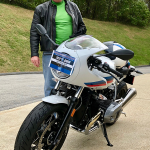 Robert who just picked up this 2017 R9T Racer.