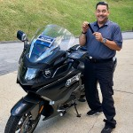 Richard who just picked up his new 2018 K1600GTL.