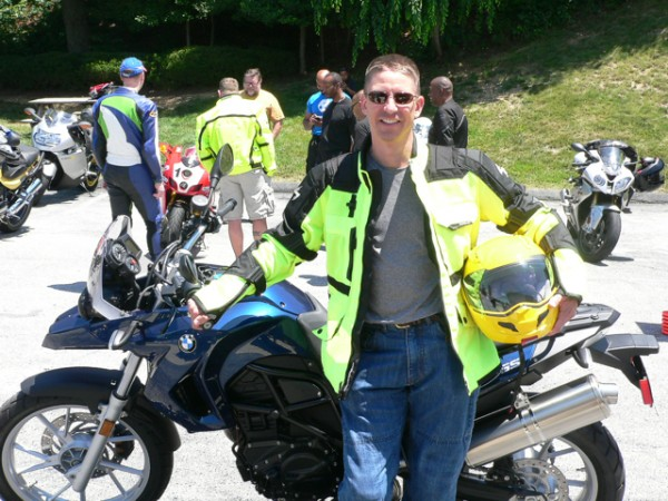 Steven Blash with his BMW 2012 BMW F650GS.