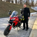 Bill is the proud new owner of this sweet 2013 Ducati Multistrada.