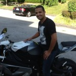 Alan Meija and his 2014 BMW S1000RR at Bob's BMW