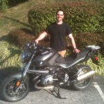 Andy Frizzell  with his 2012 R1200R.