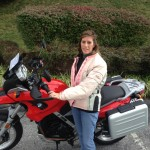 Angie and her 2009 G650GS.