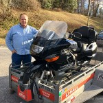 Bob's frequent flyer Bryan and his new 2002 K1200LT. Congratulations and thanks from all of us at Bob's!