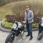 Chris and his new 2017 R9T Scrambler! Enjoy your sweet new ride!