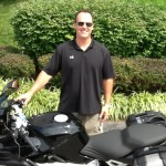Christopher Thomas  of Columbia, MD and his 2008 K1200S.