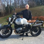 George H. on his custom 2017 BMW R9T Scrambler!