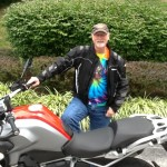 Bob's BMW GREG LONNBERG with his 2014 R1200GSW / LUSBY, MD