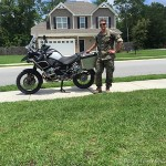 Philip Kaufmann, 2012 BMW R1200GS, a surprise retirement gift from his parents.