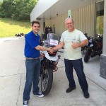 Jim Ditlow, a Bob's customer since the very beginning, but this is his first motorcycle purchase!