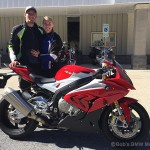 Joe P. and his girlfriend Emily with his new 2016 S1000RR.