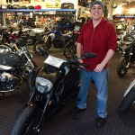New Bob's customer Kevin and his new 2015 Ducati Diavel.