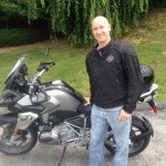 Michael McDowell  with his 2013 R1200GSW.