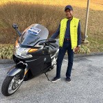 Monroe and his new K1200GT.