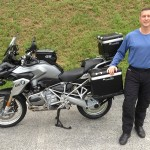 Johnathon Hughes with his 2013 R1200GSW.