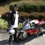 Robert Crabbe with his 2013 BMW S1000RR.