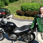 Robert Glover with his 2014 BMW G650GS at Bob's BMW.