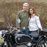 Yannis & Angela Tzamouranis with their 	1969 R60/2