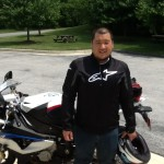Yum Na with his 2014 S1000RR.