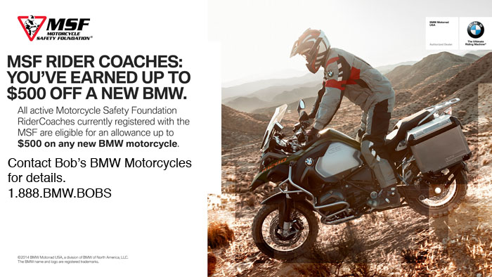 BMW Rider Coach program at Bob's BMW