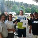 Chris Soden won Bob's door prize in Somerset PA.