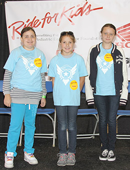 Stars Theodora, Paige and Olivia light up the stage at the Baltimore/Washington, D.C. Ride for Kids