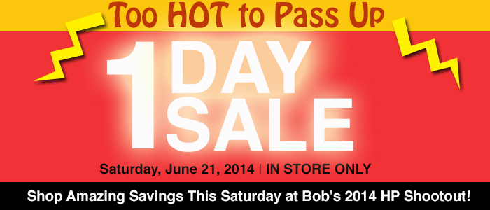 1 day sale at Bob's BMW