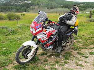 Dr Frazier adventure rider and sleeper.