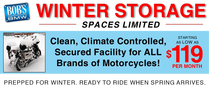 Winter storage at Bob's BMW