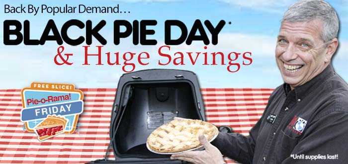 Black pie day at Bob's