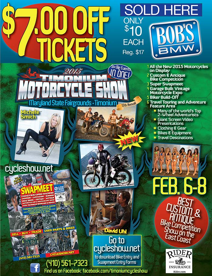 $7 Off Timonium Show at Bob's BMW