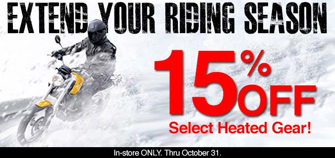 15% Off Heated Gear