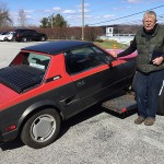 John Erskine with his 1985 Fiat X-19.