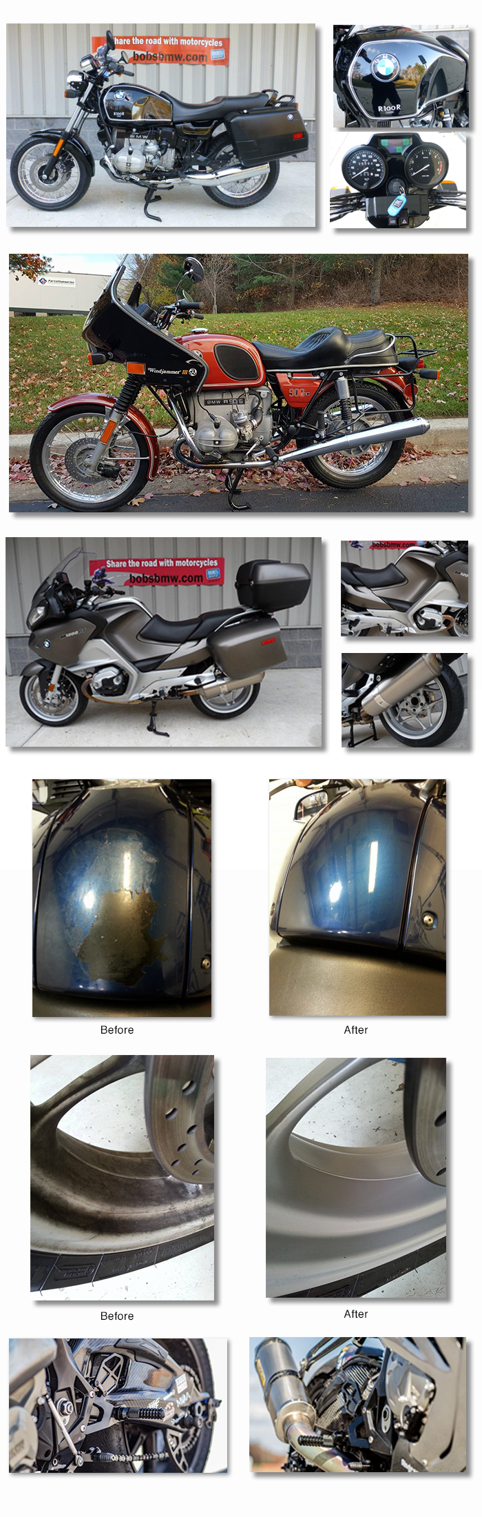 Motorcycle detailing at Bob's BMW Motorcycles