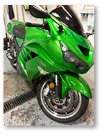 Motorcycle detailing at Bob's BMW