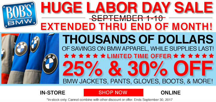 Labor Day Sale at Bob's BMW