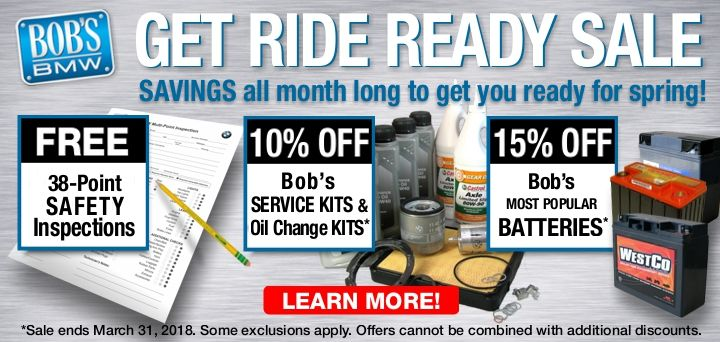 Get Ride Ready at Bob's BMW